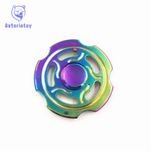 Colorful Garden gears Hand spinners Metal Fidget Spinner For Autism and ADHD Kids spiner     Finger Toy Fidget spiner Skinner