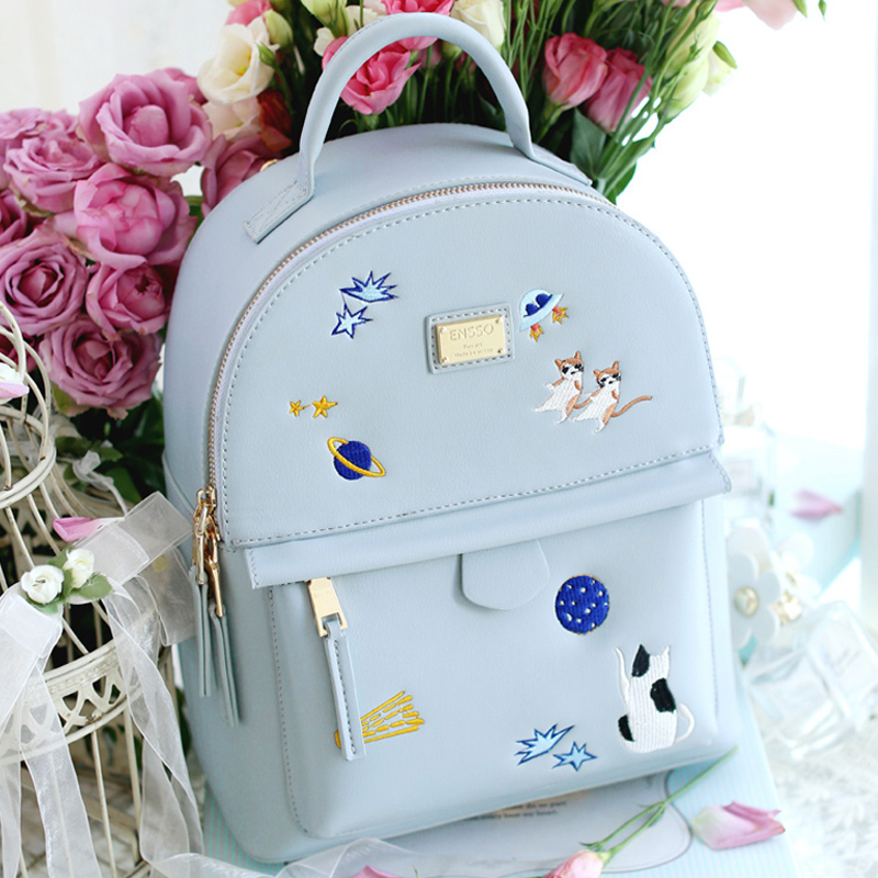 New Fashion Women Backpacks Famous Brands Designer Lady Leather Backpack School Bagpacks For Teenage Girls Small Santoro