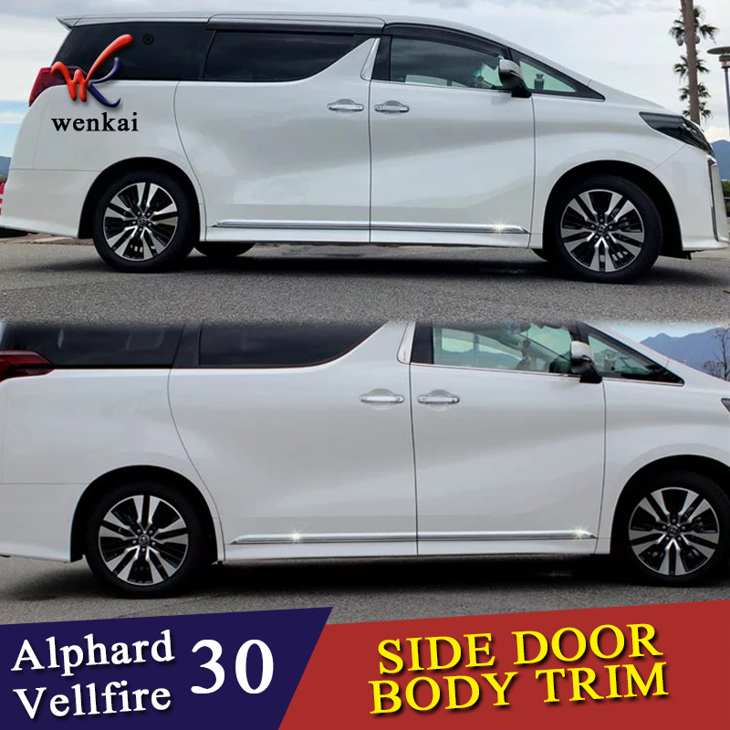 Car Accessories Styling For Toyota Alphard Vellfire 30 series 2016-2019 Body Door Side Skirt Accent Moulding Sticker TrimCar Accessories Styling For Toyota Alphard Vellfire 30 series 2016-2019 Body Door Side Skirt Accent Moulding Sticker Trim