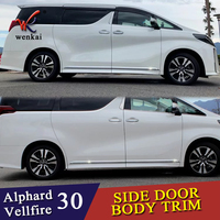 Car Accessories Styling For Toyota Alphard Vellfire 30 series 2016 2019 Body Door Side Skirt Accent Moulding Sticker Trim