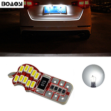 BOAOSI 1x T10 4014SMD LED License Number Plate Light Canbus For Mitsubishi asx Lancer Outlander Galant Pajero