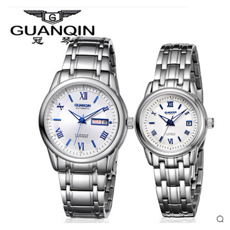 Design Lovers Watches Mens Couple Clocks Guanqin Top Brand Women Quartz Wristwatches Waterproof Casual Watch Fashion Wristwatch keep in touch couple watches for lovers luminous luxury quartz men and women lover watch fashion calendar dress wristwatches
