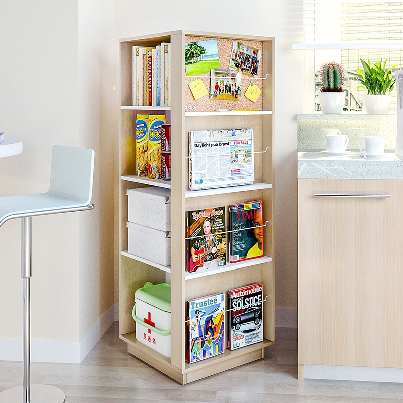 display rotating large product l magazine stand literature wood rack spinner revolution displaygreat with pockets