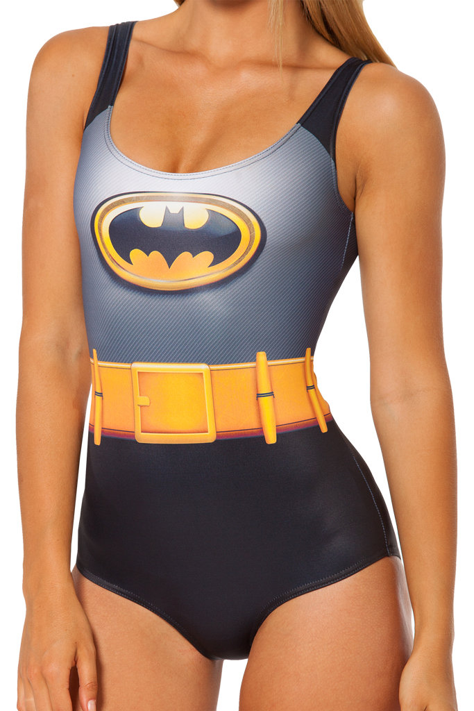 One-Piece Swimsuit Jumpsuits Playsuits Bodysuits Swimwear Cute girl Cute girl Heroes Batman Superman Wonder print free shipping
