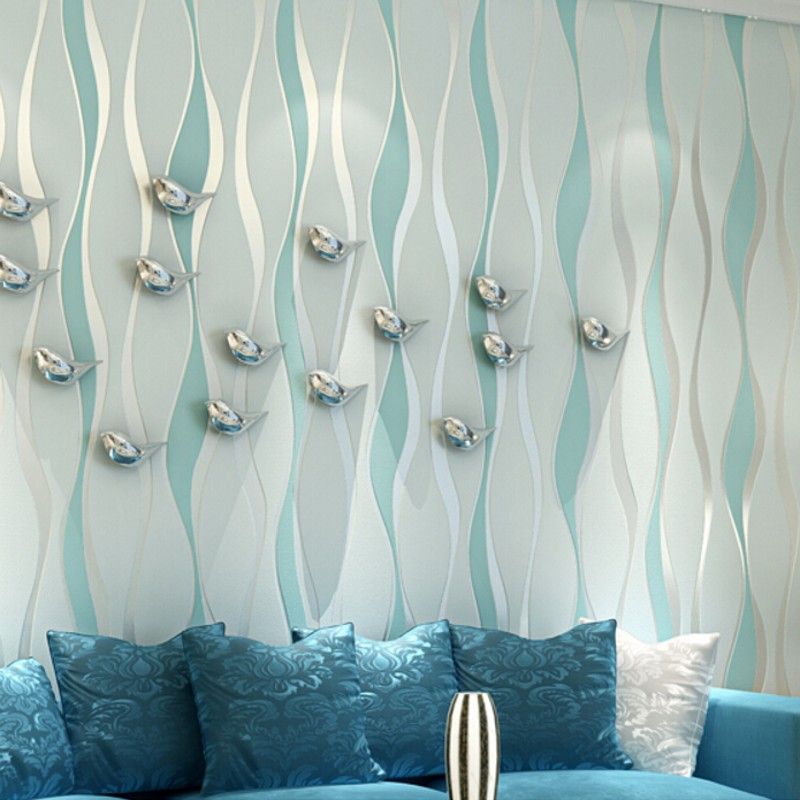 Beibehang 3D striped 3d wallpaper modern minimalist bedroom living room TV background wallpaper for walls 3 d papel de parede beibehang mediterranean blue vertical stripes wallpaper minimalist living room background wallpaper modern den papel de parede
