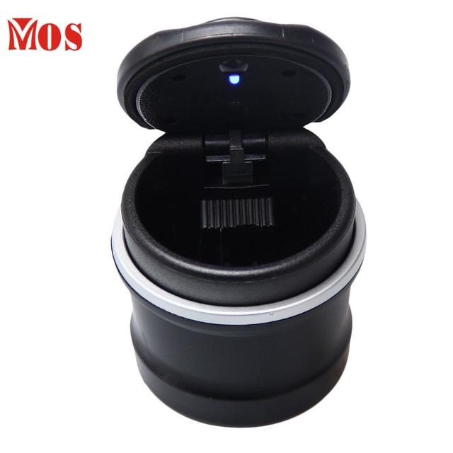 New Qualified mini ashtray portable car ashtray cinzeiro LED Portable Car Ashtray cigar ashtray Dropship  D45SE12A