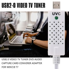 USB2.0 Video TV Tuner DVD Audio Capture Card Converer Adapter for Win7/8 T7(China)