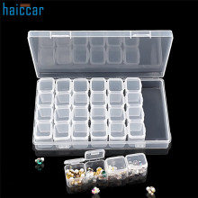 Nail Storage Box HAICAR Multifunctional 1Set 28 Lattice Plastic Nail Tool Decoration Empty Storage Case Box Nail Art Equipment(China)