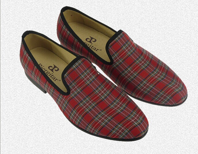 linen casual shoes men red velvet loafers colorful slippers US size 6-13