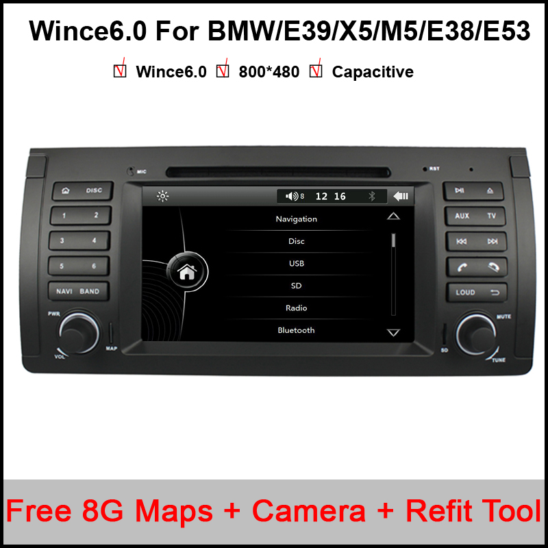 Capacitive Screen! 7 Inch Car DVD Player For BMW/E39/X5/M5/E38/E53 Canbus Radio GPS Navigation Bluetooth 1080P 3G Ipod Map