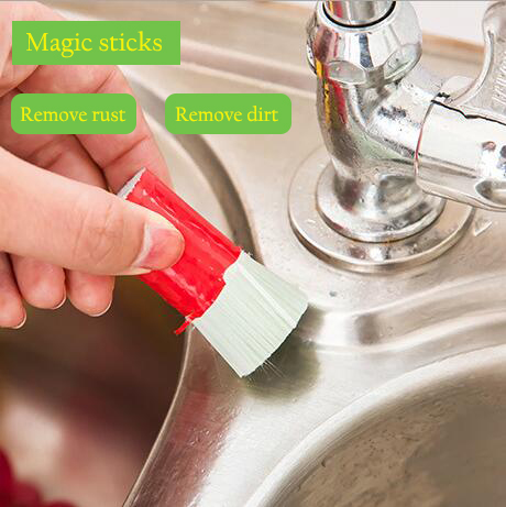 2017 Durable Magic Stick Metal Rust Remover Handy 2pcs/set Stainless Steel Brush Kitchen Rust Tools 5*2.2cm brush for cleaning