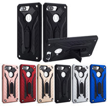 luxury Armor Case for OPPO R11 Plus F7 F11 R9s A37 A39 A33 A59 A71 A77 A83 A5s A3s K1 A1k RealMe X Lite Stand Shockproof Cover(China)
