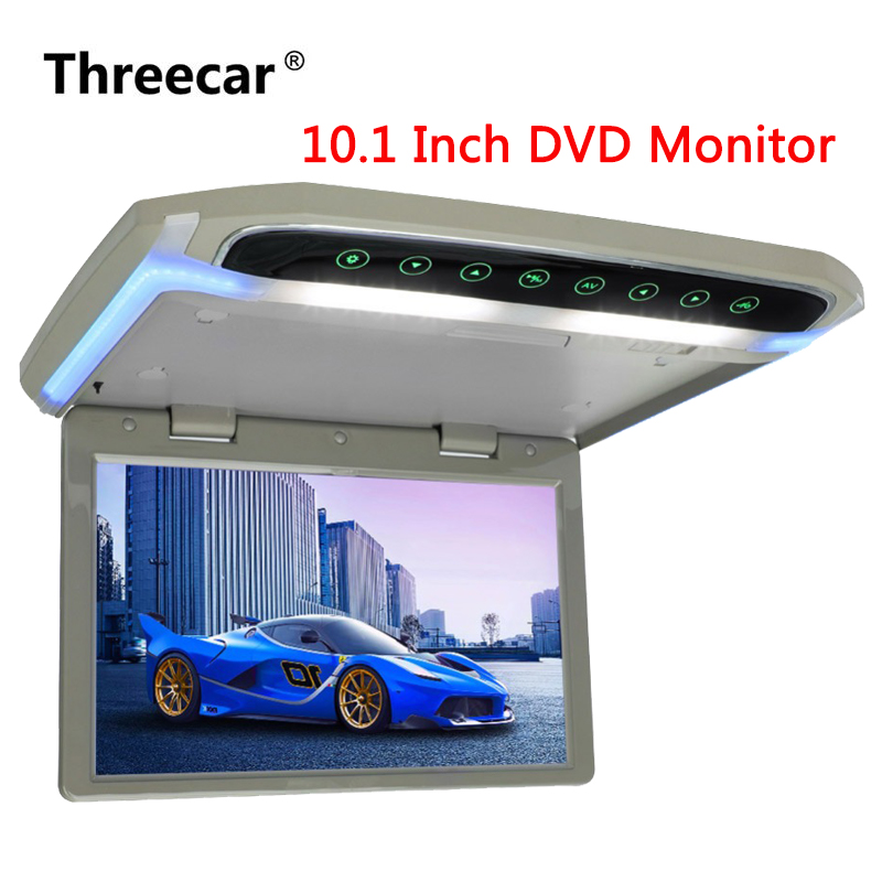 купить 10.1 Inch Car Monitor Roof Mount Car LCD DVD Monitor Flip Down monitor Overhead Multimedia Video Player Roof mount Display по цене 7203.35 рублей