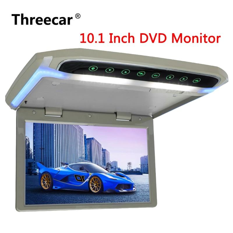 10.1 pouce De Voiture Moniteur Toit Mount Voiture LCD DVD Monitor Flip Down moniteur Frais Généraux Multimédia Vidéo Lecteur Toit mount Display