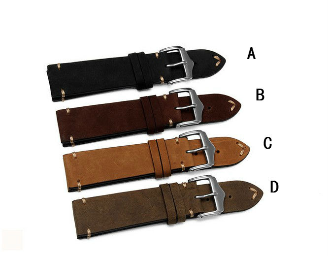 New Men High-grade strap 20mm 22mm Watch Strap Durable Genuine Leather Watch Bands Durable Good Quality Bracelet Watchbands 18mm buckle 16mm women top grade high quality genuine leather watch bands strap b44