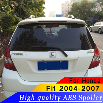 For Honda Fit 2004 2005 2006 2007 Rear wing spoiler ABS primer or black or white high quality spoiler for Fit