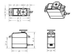 Image 3 - 1X 35kg high torque Coreless motor servo Metal gear digital and Stainless Steel gear servo arduino servo for Robotic DIY,RC car