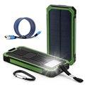 DCAE NUEVO Portátil A Prueba de agua Solar Powerbank Banco de la Energía 12000 mAh Dual USB Cargador de Batería Solar con la luz LLEVADA para todos teléfono