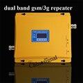 Высокое качество dual band 2 г 3 г wcdma ретранслятор усилитель жк-дисплей мобильного телефона gsm 900 мГц 2100 мГц сигнала усилитель с адаптером питания