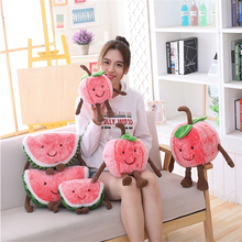 Toys Pillow Watermelon Cute Cushion Dolls Fruits Stuffed Cherry Plush Smile Soft Kids