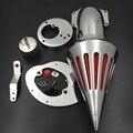 Envío libre de la motocicleta del mercado de accesorios piezas de Pico filtro aire para Honda VTX1300 VTX 1300 1986-2012 CROMADO
