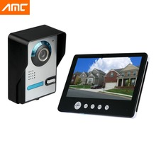 9 pulgadas LCD Monitor 900TVL cámara Video de la puerta teléfono Intercom timbre de la puerta IR cámara de visión nocturna de interfono por cable para Home Securty