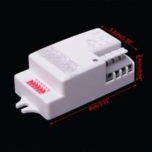 AC 220V 240V 50Hz Microwave Radar Sensor Switch Body Motion Detector For