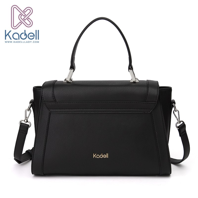 Kadell Luxury Handbags Women Bags High Quality Ladies Messenger Bags PU Leather Shoulder Bag Black ainvoev luxury handbags women bags designer women messenger bags pu leather shoulder bags tote high quality fshion ladies bag