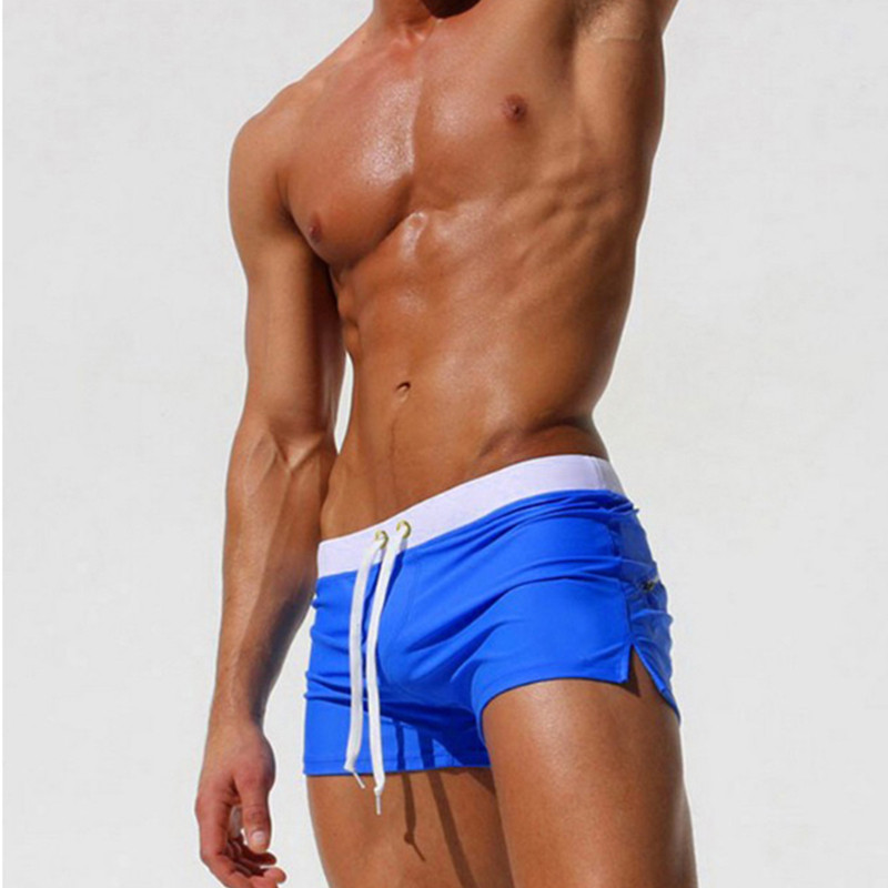 Royal Blue-Swimwear Men Boxer Shorts Swim Trunks Swimming Surf