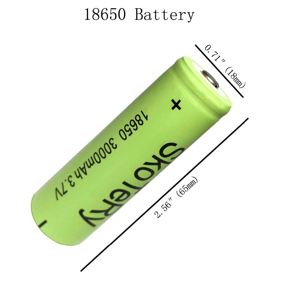 4pcs a lot 18650 3000mAh 3 7V Li ion Rechargeable Batteries 18650 Lithium Battery Baterias Bateria For Flashlight in Digital Batteries from Consumer Electronics