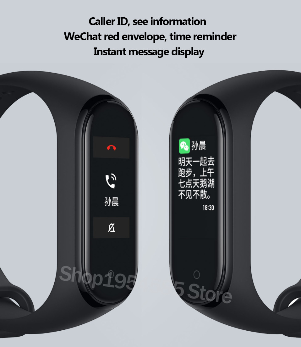 Xiaomi Mi Band 4 Smart Watch Standard Version Heart Rate Activity Fitness Tracker Smart Band Bracelet Colorful Display 2019 New (19)