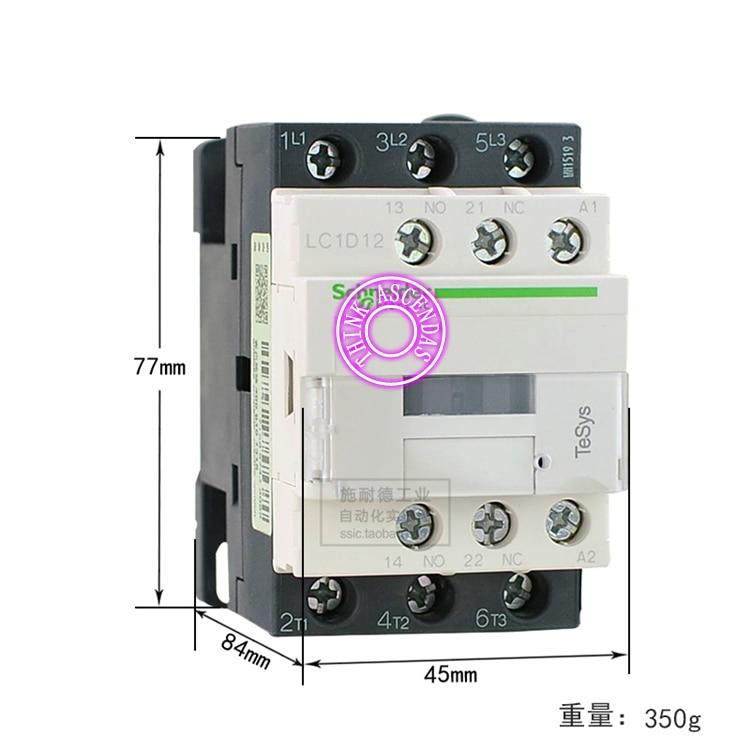 LC1D Series Contactor LC1D12 LC1D12KD 100V LC1D12LD 200V LC1D12MD 220V LC1D12ND 60V LC1D12PD 155V LC1D12QD 174V LC1D12ZD 20V DC new cad50bdc dc24v tesys d series contactor control relay 5no 0nc