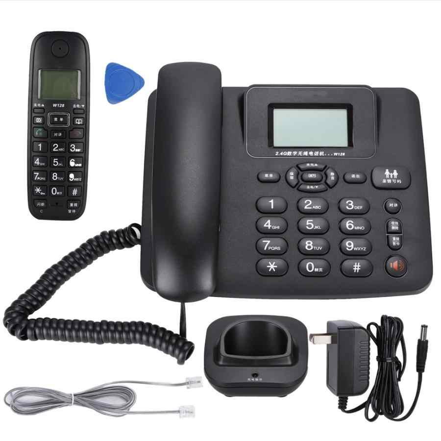 W128 2.4 2.4ghz のインテリジェントデジタルワイヤレス電話固定 One (米国のプラグイン 100-240 V)