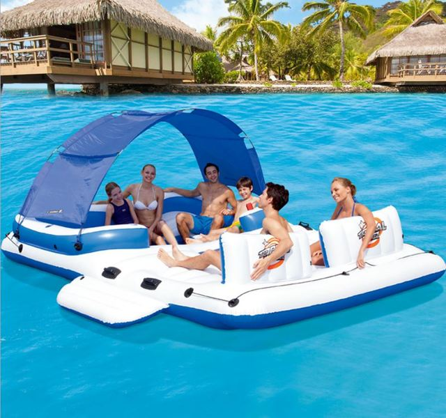 2017 New Water Air Mattress Floating Island For S And Kids Party In Summer Swimming Large Inflatable Float Bed Fun