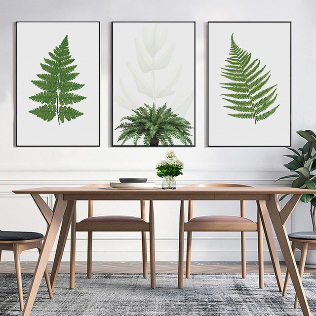 Merveilleux ASAPFOR Tropical Venus Fern Green Leaf Nature Poster Printed Pictures  Canvas Paintings Wall Art For Living