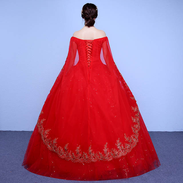 placeholder Free Shipping 2017 Short Sleeves Red White Lace Bling Wedding  Dresses Plus size Sequins Princess Bride d3cd4f772452