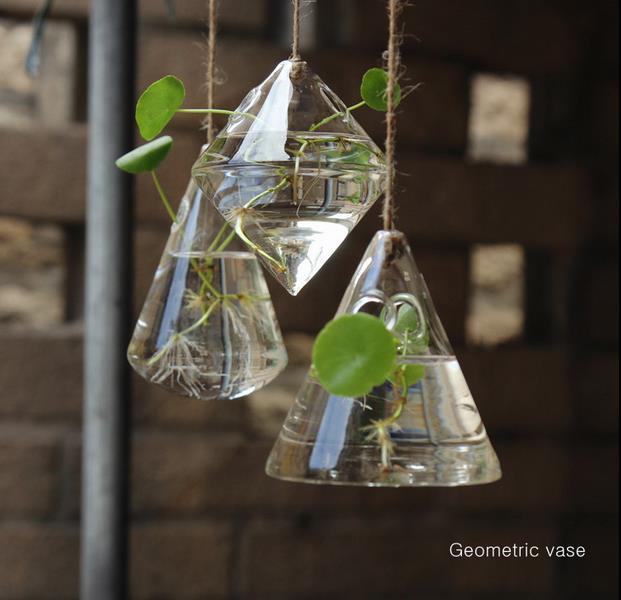Online Shop Free Shipping Irregular Geometric Vase Glass Vessel Hanging  Planters Flower Pots/Water Planter Vase Set including 3 pieces | Aliexpress  Mobile