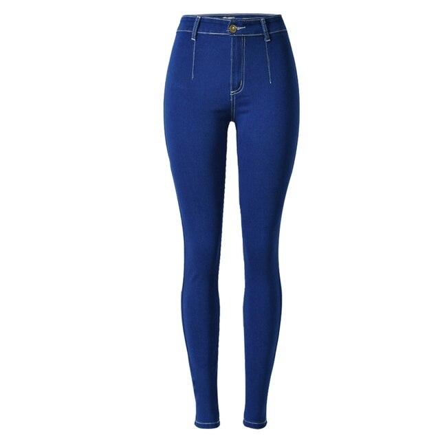 27b10dfc08 Delle donne di Alta-Elastico Denim Jeans Moda Casual Abbigliamento Donna  Skinny Che Modella Sexy