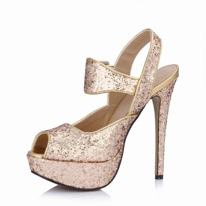 Platform High Heels Women Sandals Open Toe Sequins Woman Ladies Dress Party Valentine Wedding Shoes Zapatos Mujer Tenis Feminino plus size sexy high heels women pumps pointed toe woman ladies party valentine dress wedding shoes tenis feminino zapatos mujer