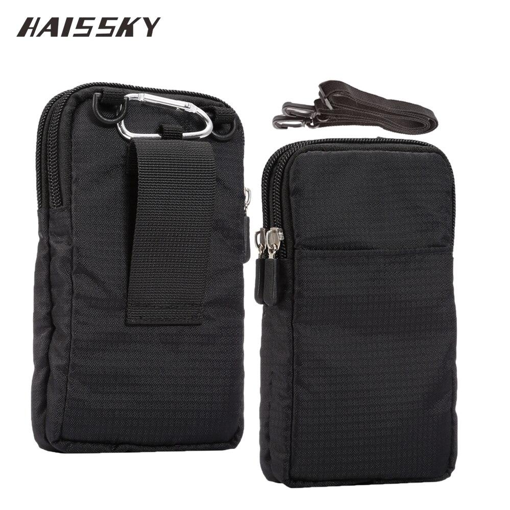 Haisssky新しいスポーツ財布携帯電話バッグ用マルチ電話モデルフックループベルトポーチホルスターバッグポケット屋外陸軍カバーケース携帯電話