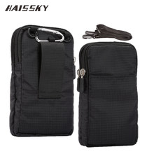 Haissky Nieuwe Sport Portemonnee Mobiele Telefoon Zak Voor Multi Telefoon Model Haak Lus Riem Pouch Holster Tas Pocket Outdoor Army cover Case(China)