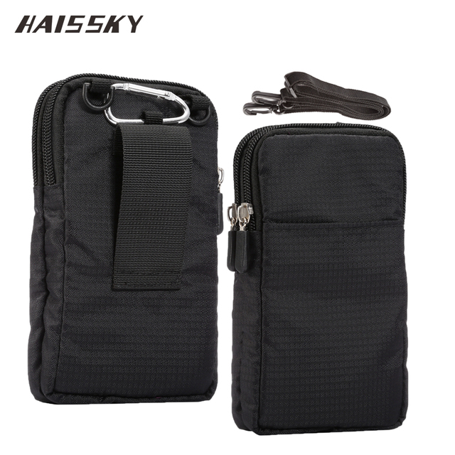 HAISSKY New Sports Wallet Mobile Phone Bag For Multi Phone Model Hook Loop Belt Pouch Holster Bag Pocket Outdoor Army Cover Case