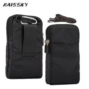 HAISSKY nowy portfel sportowy torba na telefon komórkowy dla wielu modeli telefonów saszetka na pasek kabura torba kieszeń na zewnątrz armii pokrywy skrzynka