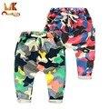 Monkids Meninos Lindas Calças de Camuflagem Calças Harem Pants Crianças Calças Do Bebê Calças Esportivas Roupas de Algodão