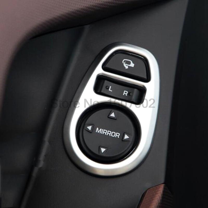 For Hyundai Creta IX25 2014 2015 2016 Matte Chrome Car Interior Door Mirror Control Adjustment Button Switch Molding Trim Cover