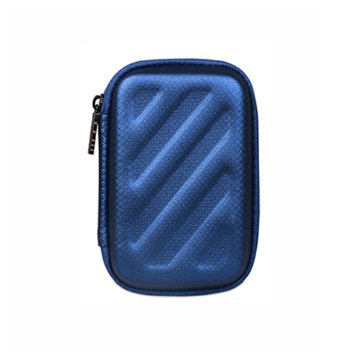 Portable Mini travel Bag for Earphone Headphone carry SD TF Cards case headset headphones box Blue