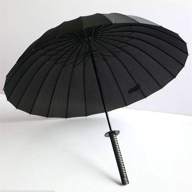 design de qualité d5d2e e72c8 € 22.99 |Parapluie innovant Noir Ninja comme Japonais Samurai Épée Longue  poignée Manuel Coupe Vent Parapluie 190 T Pongé Metal Arbre dans Parapluies  ...
