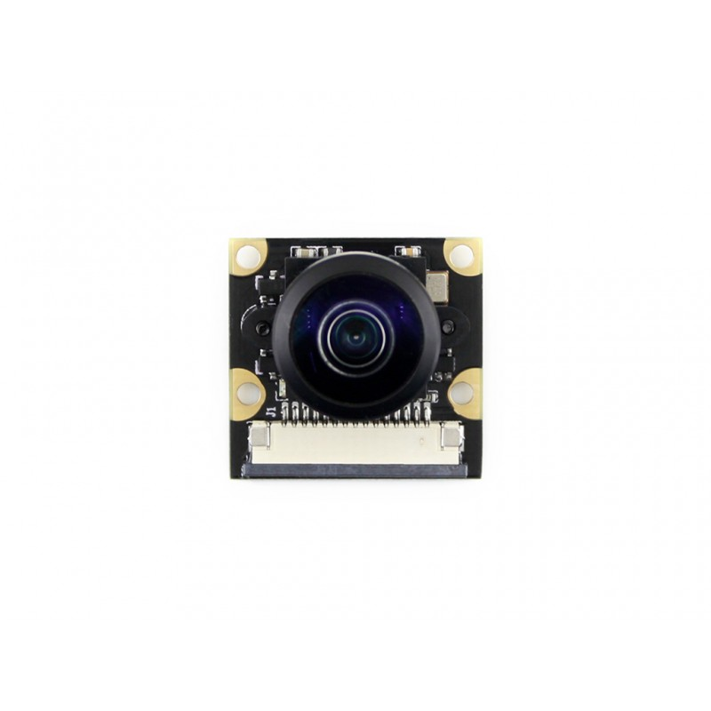 Waveshare New Raspberry Pi Camera Module Kit (J) for RPi 3B/2B/B/B+ Fisheye Lens 222 Degree Field of View 5 mega OV5647 Sensor
