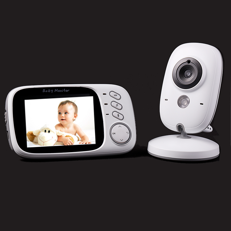 HOT 3.2 inch color LCD monitor Video Wireless Baby Monitor Security Camera 2 Way Talk Nigh Vision IR LED Temperature Monitoring baby sleeping monitor color video wireless with camera baba electronic security 2 talk nigh vision ir led temperature monitoring