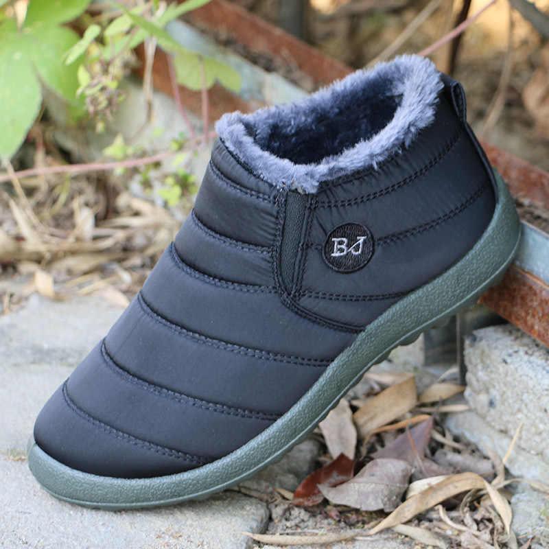 Merkmak/Новая модная мужская зимняя обувь однотонные зимние ботинки теплые водонепроницаемые лыжные ботинки с плюшевой подкладкой Размеры 35-47
